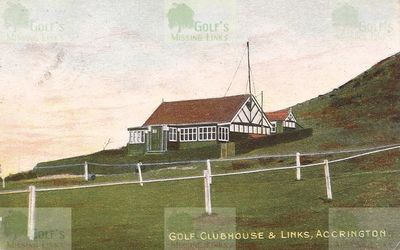 Accrington & District Golf Club. The clubhouse and course 1905.