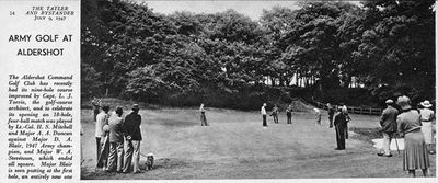 Aldershot Command Golf Club, Hampshire. Article from The Tatler July 1947.