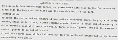 Alveston Golf Club, Rudgeway. Individual hole descriptions.