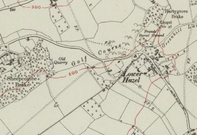 Alveston Golf Club, Gloucestershire. The golf course on the 1923 O.S. map