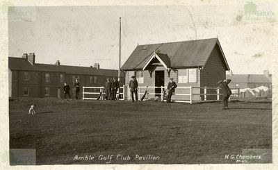 Amble Golf Club, Northumberland. Early image of the Golf Club Pavilion.