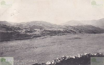 Ambleside & District Golf Club, Cumbria. Postcard from 1959 showing the fifth green.