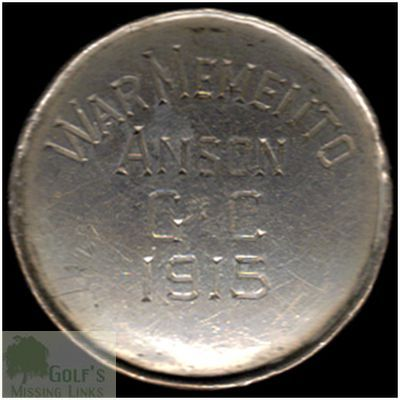 Anson Golf Club, Manchester. World War One memento button 1915.