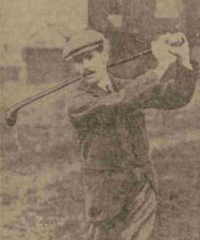 Anson Golf Club, Manchester. Walter Hambleton the Anson professional winner of the Courier Cup in 1912.