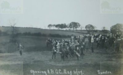 Appley Golf Club, Wigan, Lancs. Opening of the golf course in 1907.