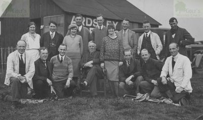 "Ardsley Golf Club, Barnsley. Competitors in the ""Early Bird played on 18th June 1930."