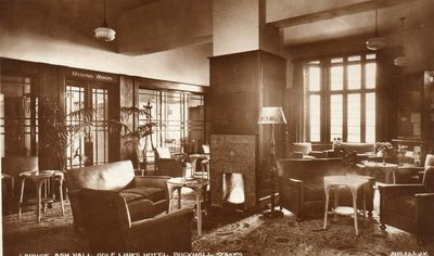 Interior of the Ash Hall Golf Club lounge.