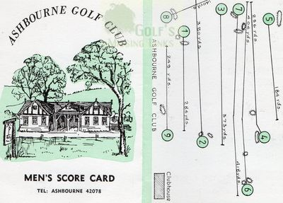 Plan and clubhouse of the earlier Ashbourne Golf Club.