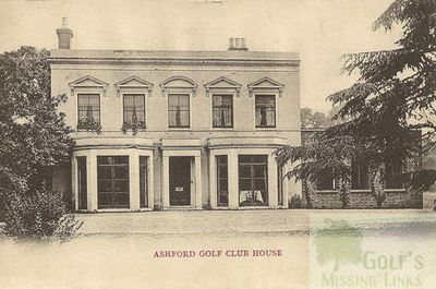 The later Ashford Golf Club Clubhouse.