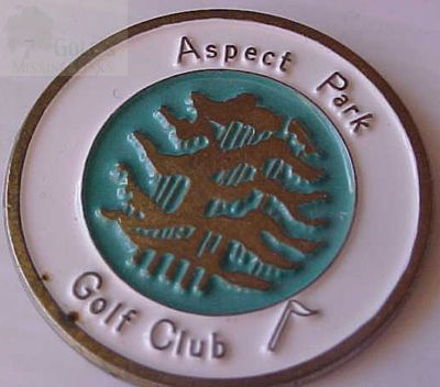 Aspect Park Golf Club, Oxfordshire. Ball marker.