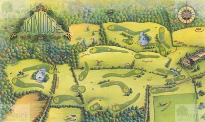 Austin Lodge Golf Club, Eynsford, Kent. Original layout of the course.