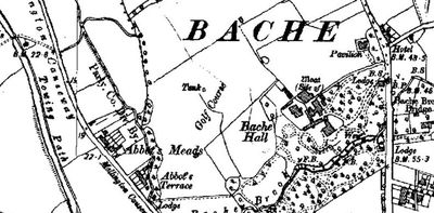 Location of the Bache (Chester) Golf Club Course.