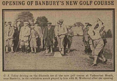 Banbury Golf Club, Tadmarton Heath Course. Opening of the new course in September 1922.