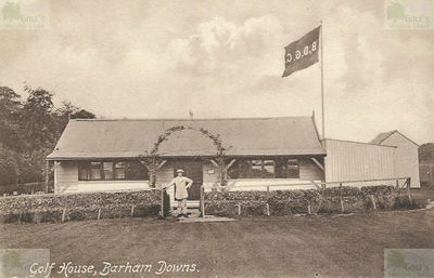 Barham Downs Golf Club, Kent. The Barham Downs clubhouse.