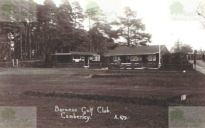 Barossa Golf Club, Camberley. The clubhouse and course.
