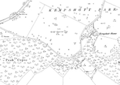 Basingstoke & District Golf Club at Kempshott Park1910 O.S map.
