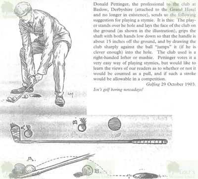 Baslow Grand Hotel Golf Club, Derbyshire. Donald Pettinger gives advice on playing a Stymie.