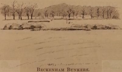 Beckenham Golf Club, London. The Bunkers.