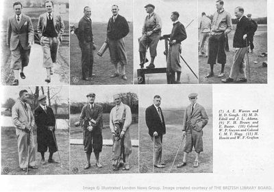 Bedfordshire Golf Club, Biddenham. Medal Day 1934 from the Bystander.