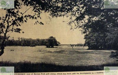 Benton Park Gaolf Club, Newcastle-on-Tyne. A picture of the golf course just prior to closure.