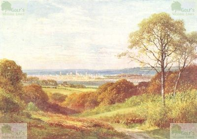 Berkeley Golf Course, Boars Hill, Oxford. Famous view of Oxford from Boars Hill.