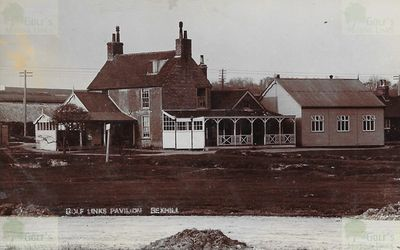 "Bexhill-on-Sea Golf Club, Sussex. The ""Golf Links Pavilion""."
