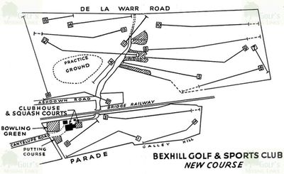 Bexhill-on-Sea Golf Club, Sussex. Plan of the Bexhill Golf & Sports Club course.