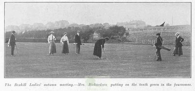 Bexhill-on-Sea Golf Club, Sussex. The ladies' autumn meeting in October 1909.