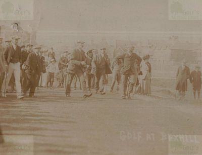 Bexhill-on-Sea Golf Club, Sussex. Competition on the course in 1906.