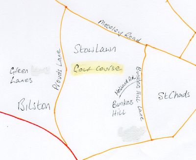Bilston & Willenhall Golf Club. Location of the Stowlawn course.