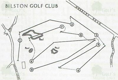 Bilston & Willenhall Golf Club, Prouds Lane. Layout of the course 1949/50.