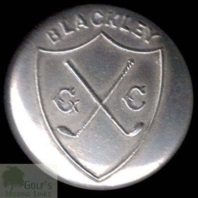 Blackley Golf Club, Manchester. Club Button.