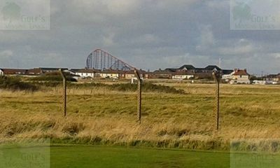 Blackpool Golf Club, South Shore. View over the former links (2015).