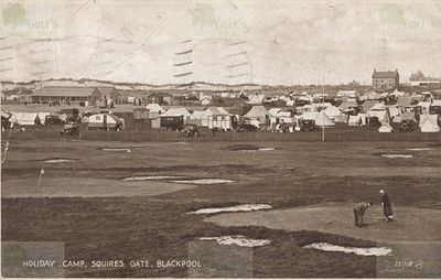 Blackpool Golf Club, South Shore. Postcard showing the course in the 1930s.