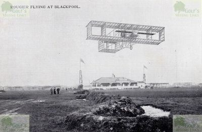 Blackpool Golf Club, Squire's Gate. A pre-WW1 postcard showing the course and clubhouse.