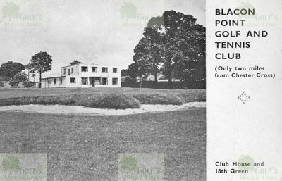 The Blacon Point Golf Club, Chester, clubhouse and green.