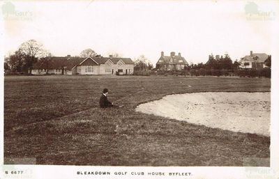 Bleakdown Golf Club, Byfleet, Surrey. The clubhouse and course.
