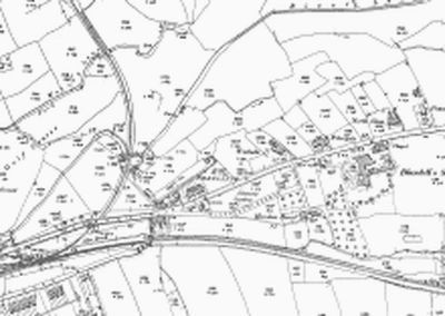 Blundell's School Golf Club, Tiverton, Devon. Map showing golf course and school.