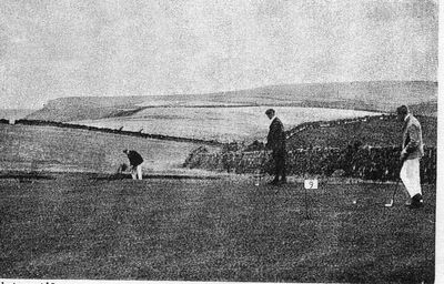 Boscastle Golf Club, Cornwall. The ninth hole.