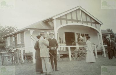 Briantree Golf Club, Chapel Hill, Essex. A pre WW1 picture of the golf clubhouse.