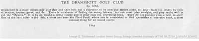 Bramshot Golf Club, Hants. Article from The Tatler May 1933.