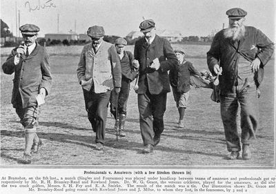 Bramshot Golf Club, Hampshire. W G Grace pays a visit to Bramshot Golf Club in 1910.