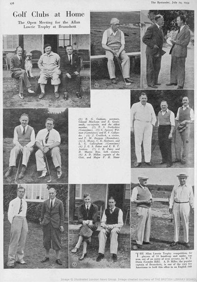 Bramshott Golf Club, Hants. Allan Lawrie Competition July 1934.