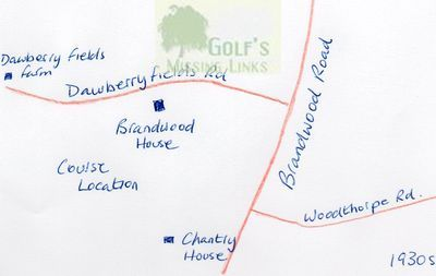 Brandwood House Golf Club, course location.