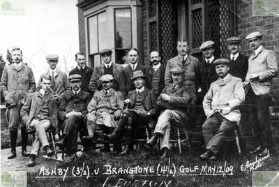 Ashby-de-la-Zouch Golf Club, Leicestershire. The players in the Ashby v Branstone match.