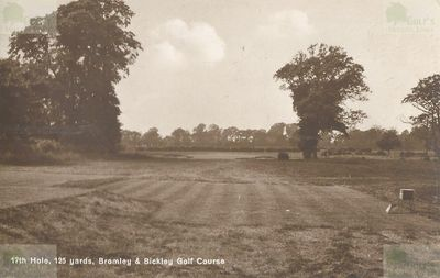 Bromley and Bickley Golf Club, Kent. View of the Par 3 Seventeenth Hole..