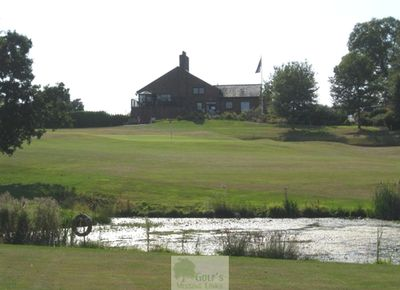 Brookfield Golf Club, Hankelow, Crewe, Cheshire. Views of the clubhouse and golf course.
