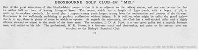 Broxbourne Golf Club, Herts. Article from The Tatler July 1939.
