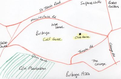 Location of the Burbage Golf Club golf course.
