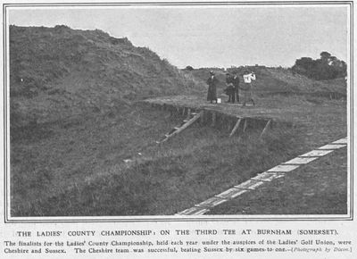 Burnham Ladies' Golf Club, Somerset. Article from The Sketch November 1911.